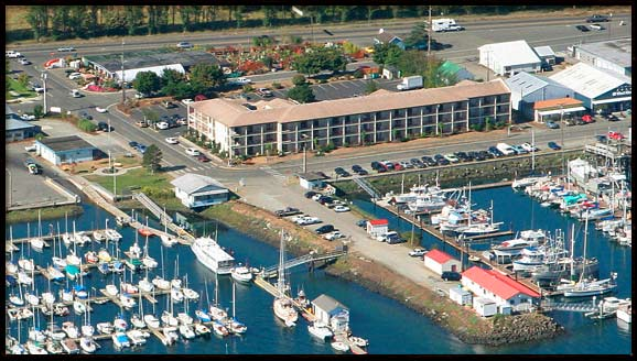 Harborside Inn from the Air